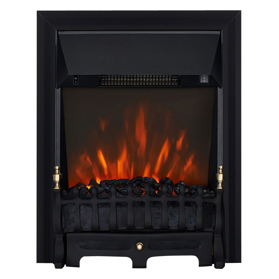 Focal Point Blenheim Black LED Electric Fire : Departments : DIY at Bu0026Q
