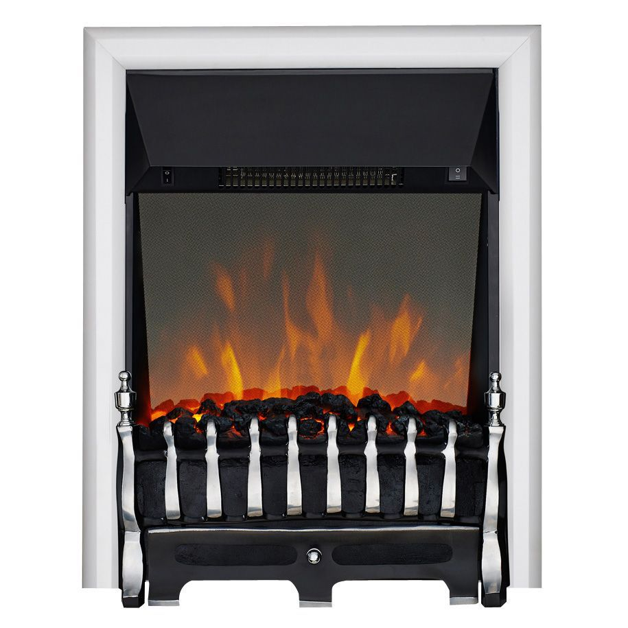 focal point blenheim chrome led reflections electric fire