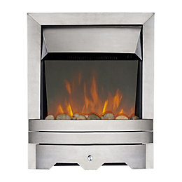 Lulworth Stainless Steel LED Reflections Inset Electric Fire