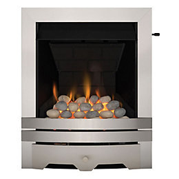 Lulworth Stainless Steel Effect Slide Control Inset Gas