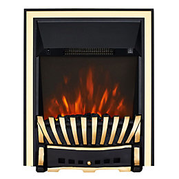 Elegance Brass & Black LED Electric Fire