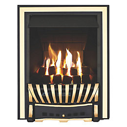 Elegance Multi Flue Black & Brass Effect Manual