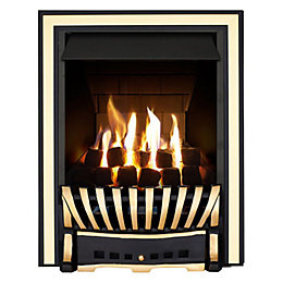 Elegance Multi Flue Black & Brass Effect Remote