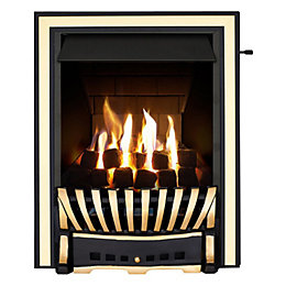 Elegance Multi Flue Black & Brass Effect Slide