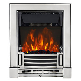 Finsbury Chrome Effect LED Inset Electric Fire