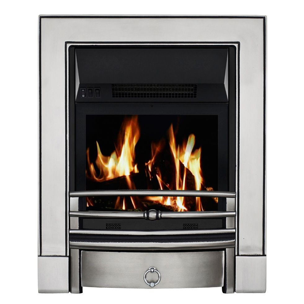 Focal Point Electric Fire: Focal Point Soho Satin Chrome LCD Remote Control Electric