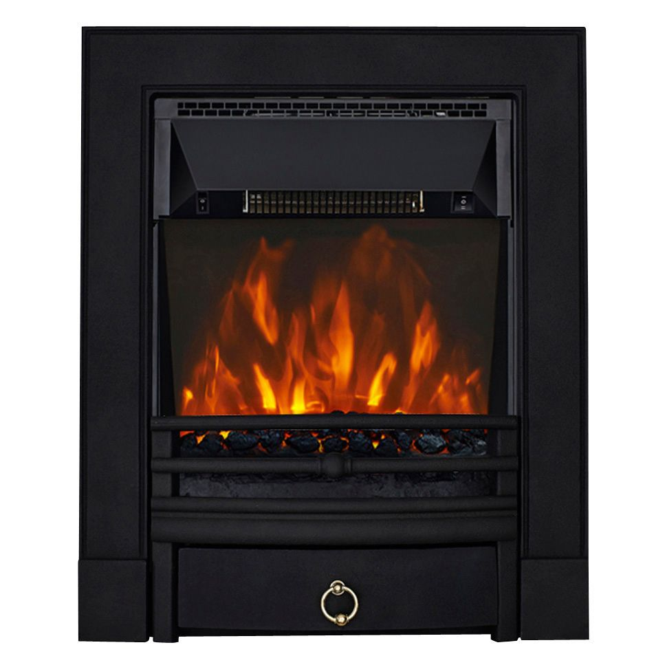 Focal Point Electric Fire: Focal Point Soho Black LED Electric Fire