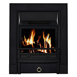 Soho Black LCD Remote Control Inset Electric Fire