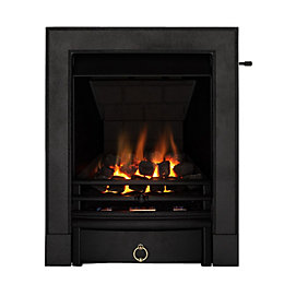 Soho Multi Flue Black Slide Control Inset Gas