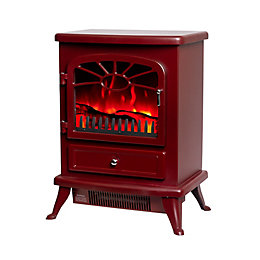 Es 2000 Burgundy Electric Stove