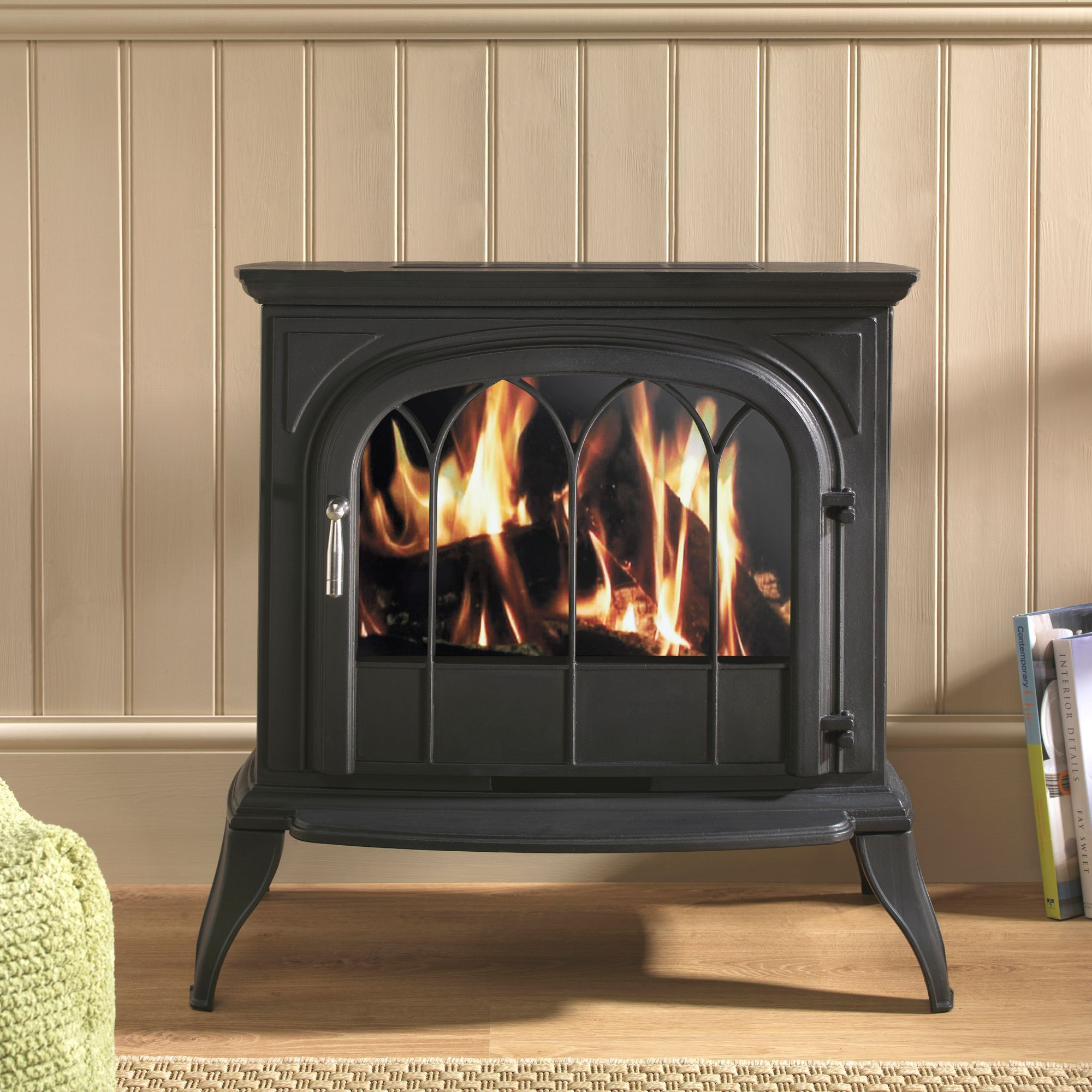 Focal Point Leirvik Black Electric Stove