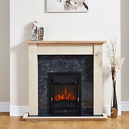Focal Point Blenheim Black Electric Fire Suite