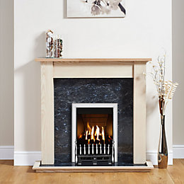 Focal Point Blenheim Chrome Inset Gas Fire Suite