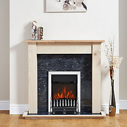 Focal Point Blenheim Chrome Electric Fire Suite