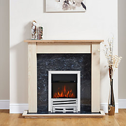 Focal Point Horizon Chrome Electric Fire Suite