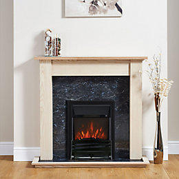 Horizon Black Inset Electric Fire Suite