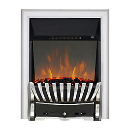 Elegance Chrome & Black LED Reflections Electric Fire