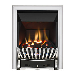 Elegance Chrome/Black Manual Control Inset Gas Fire