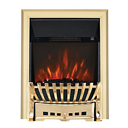 Focal Point Elegance Brass LED Electric Fire