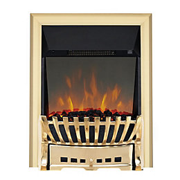 Focal Point Elegance Brass LED Reflections Electric Fire