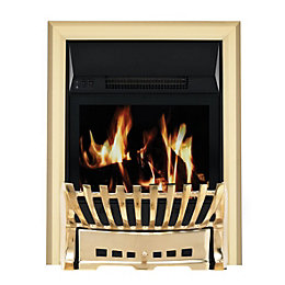 Elegance Brass LCD Remote Control Inset Electric Fire