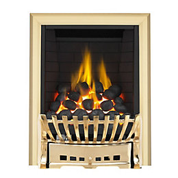 Elegance Brass Manual Control Inset Gas Fire