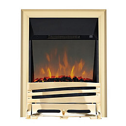 Focal Point Horizon Brass LED Reflections Electric Fire