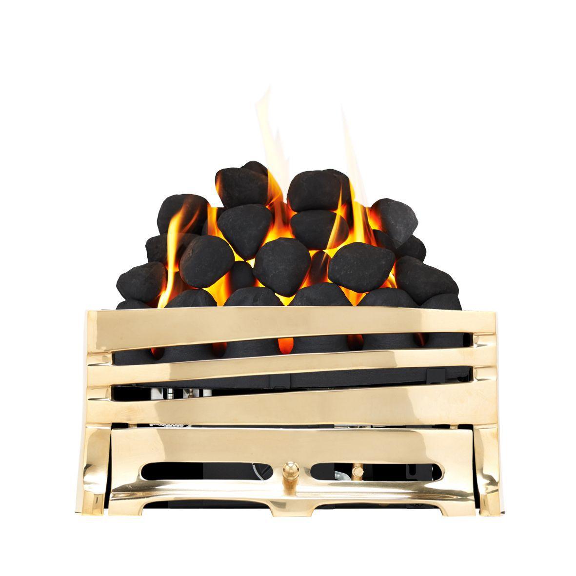 Focal Point Horizon Brass Manual Control Inset Gas Fire