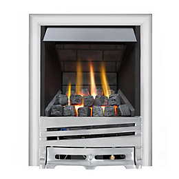 Horizon Multi Flue Chrome Manual Control Inset Gas