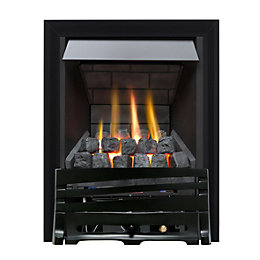 Horizon Multi Flue Black Manual Control Inset Gas