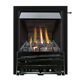 Horizon Multi Flue Black Slide Control Inset Gas