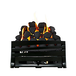 Horizon Black Manual Control Inset Gas Fire Tray