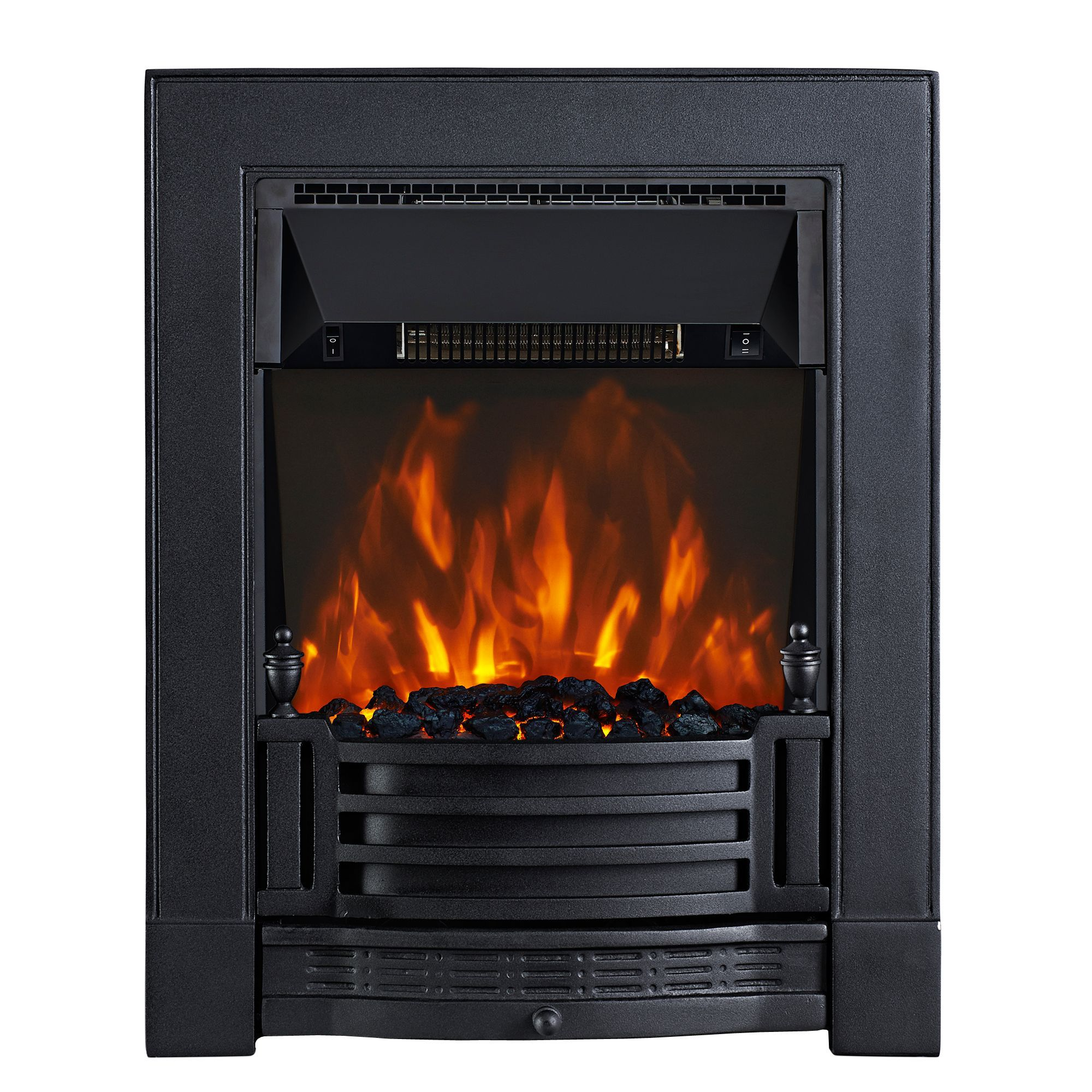 Focal Point Electric Fire: Focal Point Finsbury Black LED Electric Fire