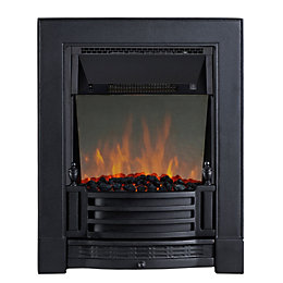 Finsbury Black LED Reflections Inset Electric Fire