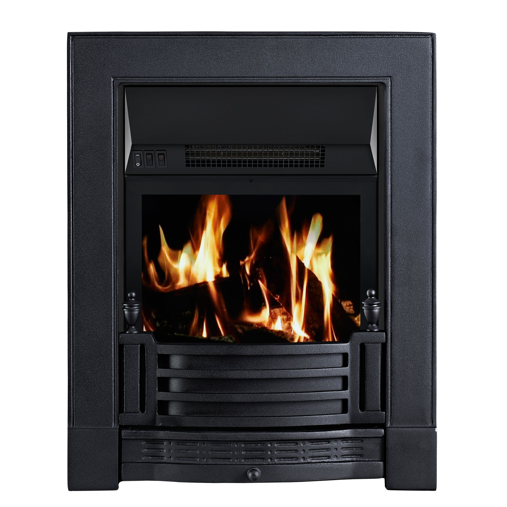 Focal Point Electric Fire: Focal Point Finsbury Black LCD Remote Control Inset