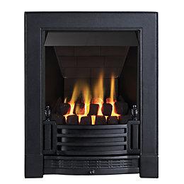 Finsbury Multi Flue Black Manual Control Inset Gas