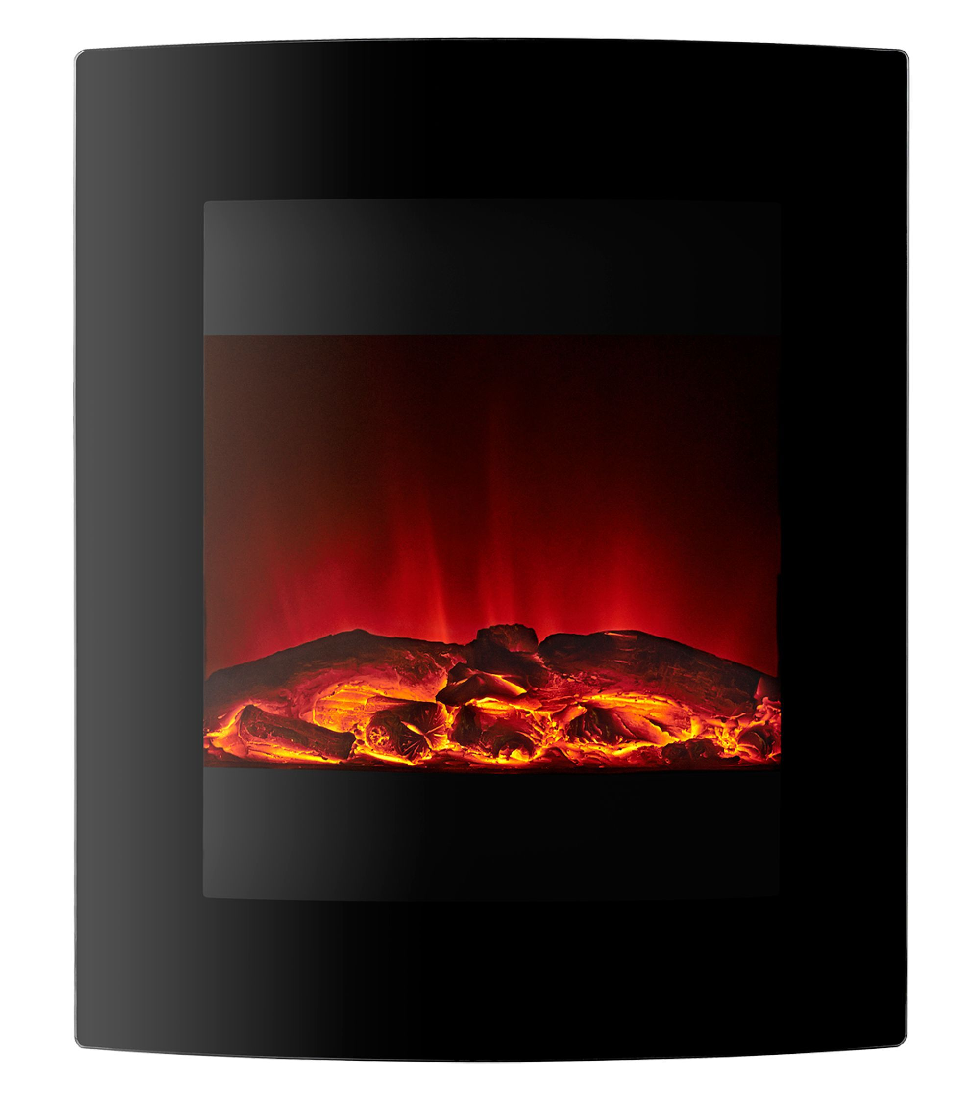Focal Point Electric Fire: Focal Point Ebony Black LED Remote Control Electric Fire