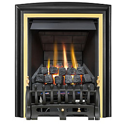 Focal Point Lycia Multi Flue Black & Brass