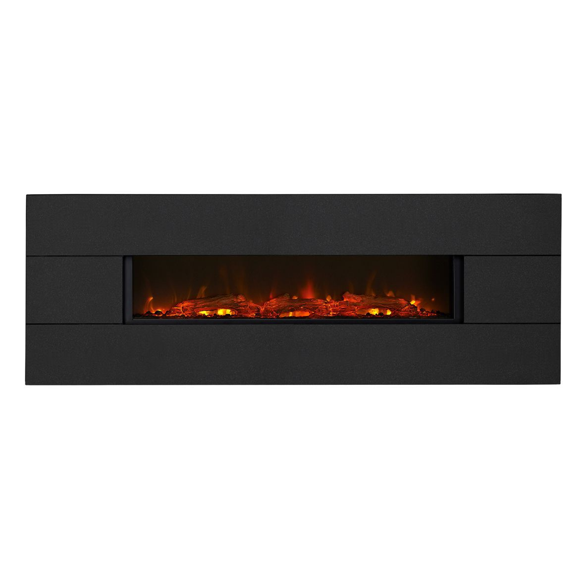 Focal Point Electric Fire: Focal Point Vesuvius Black Granite Electric Wall Hung