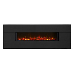 Vesuvius Limestone LED Wall Hung Electric Fire
