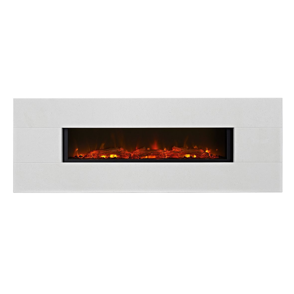 Focal Point Vesuvius Limestone LED Electric Fire Departments