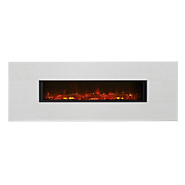 Focal Point Vesuvius Limestone LED Electric Fire
