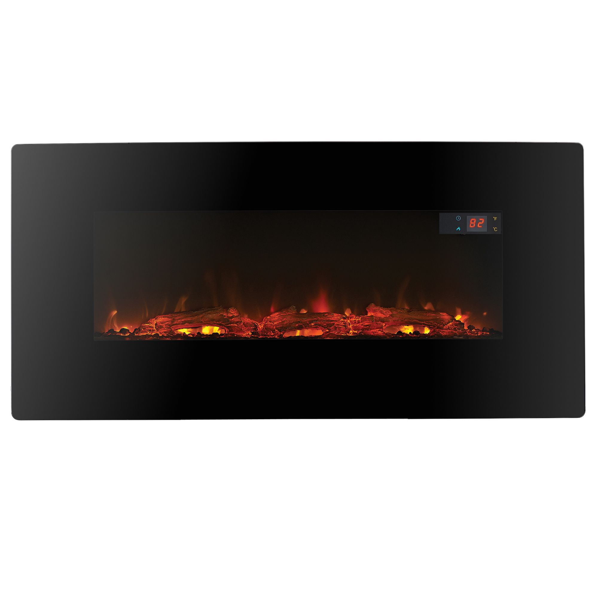 Focal Point Electric Fire: Focal Point Pasadena Black LED Remote Control Electric