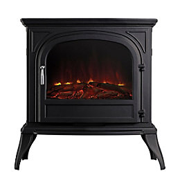 Dalvik Black LED Remote Control Freestanding Electric Stove