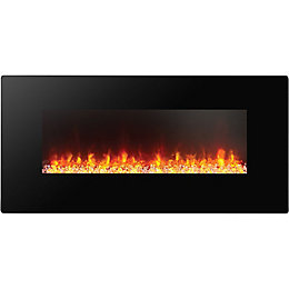 Focal Point Columbus Black Remote Control Electric Fire