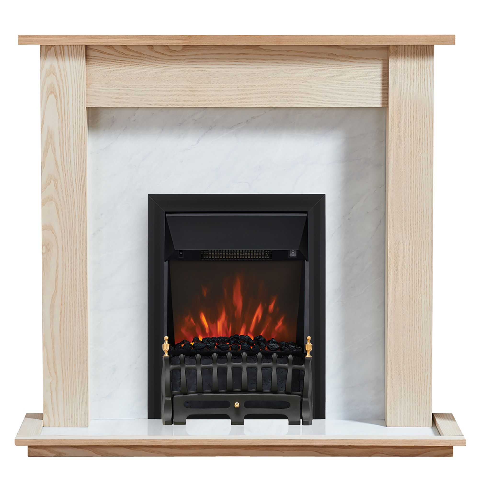 Focal Point Blenheim Kingswood Led Remote Control Electric Fire Suite