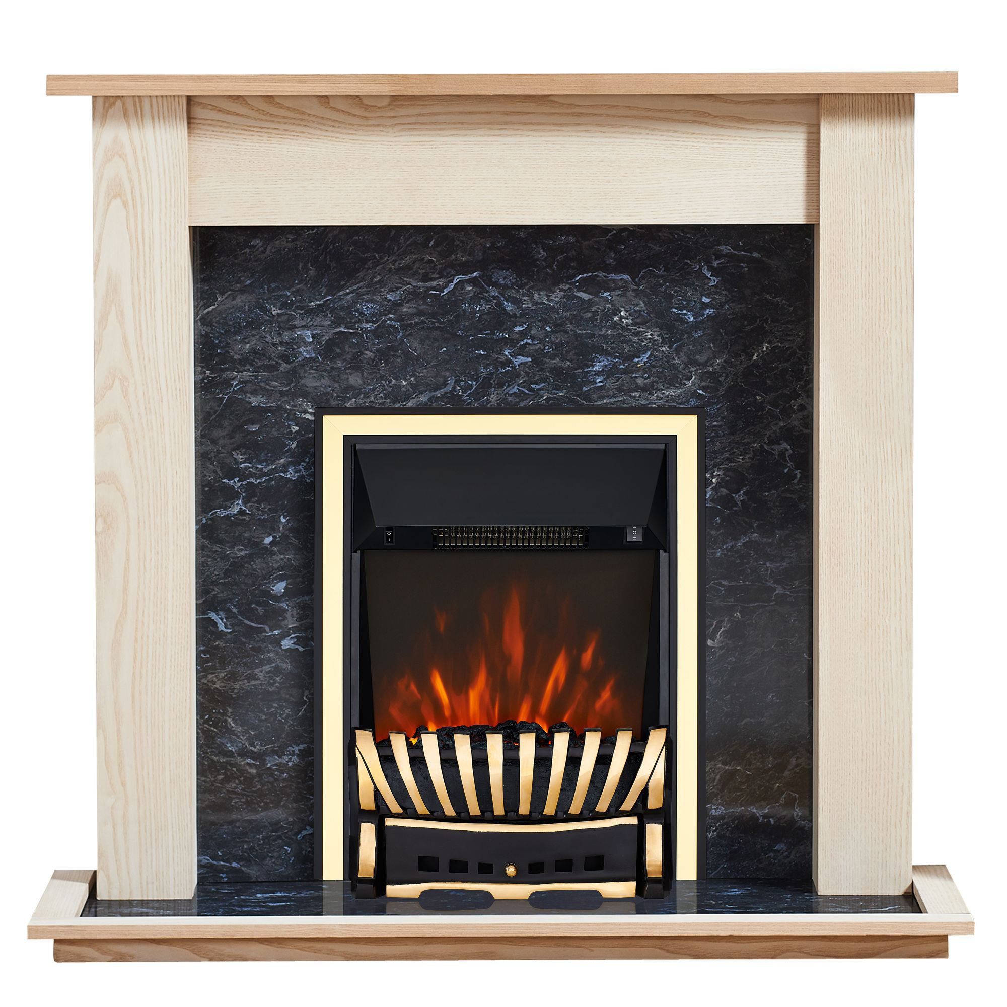 Focal Point Horizon Kingswood Led Remote Control Electric Fire Suite