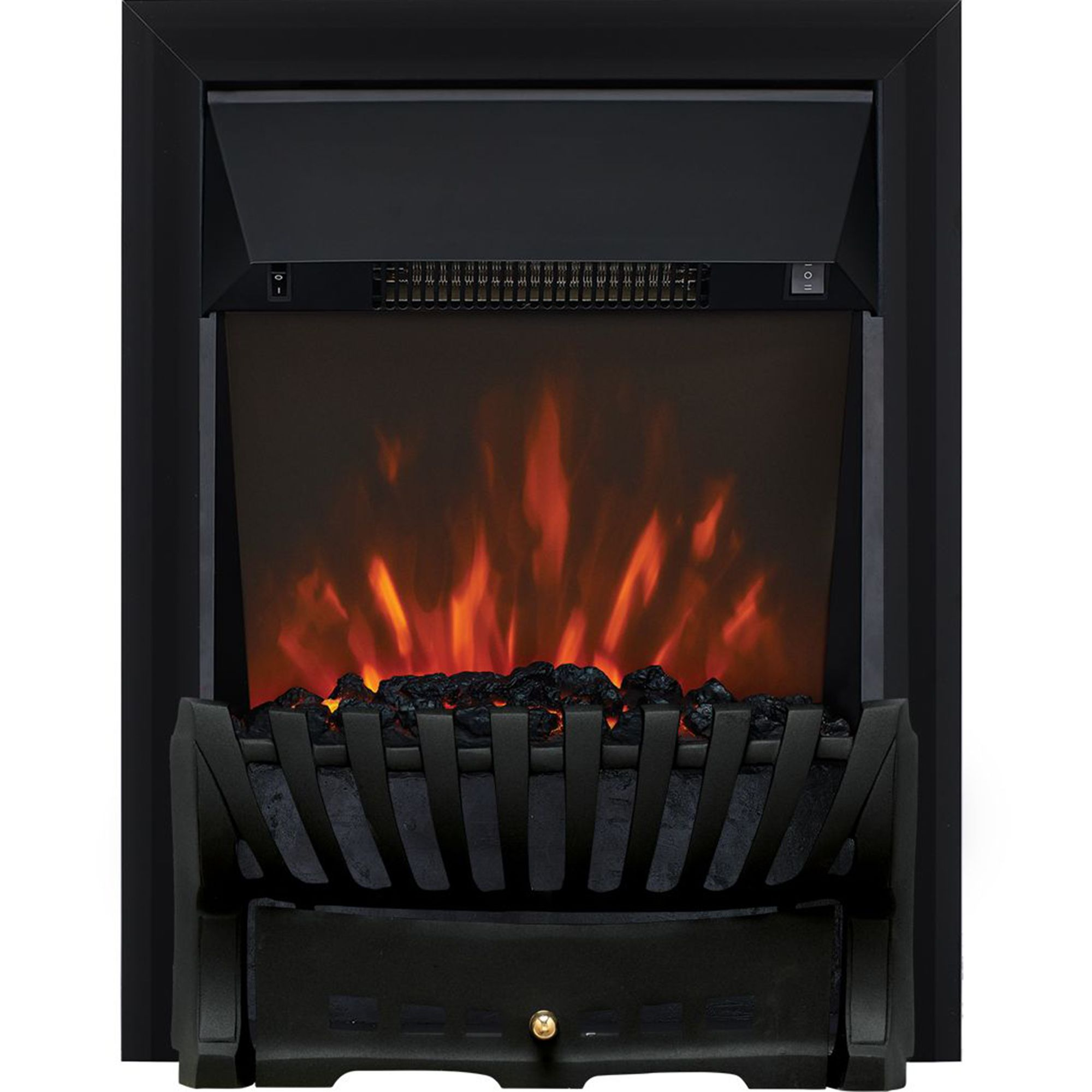 Focal Point Elegance Black Led Remote Control Electric Fire