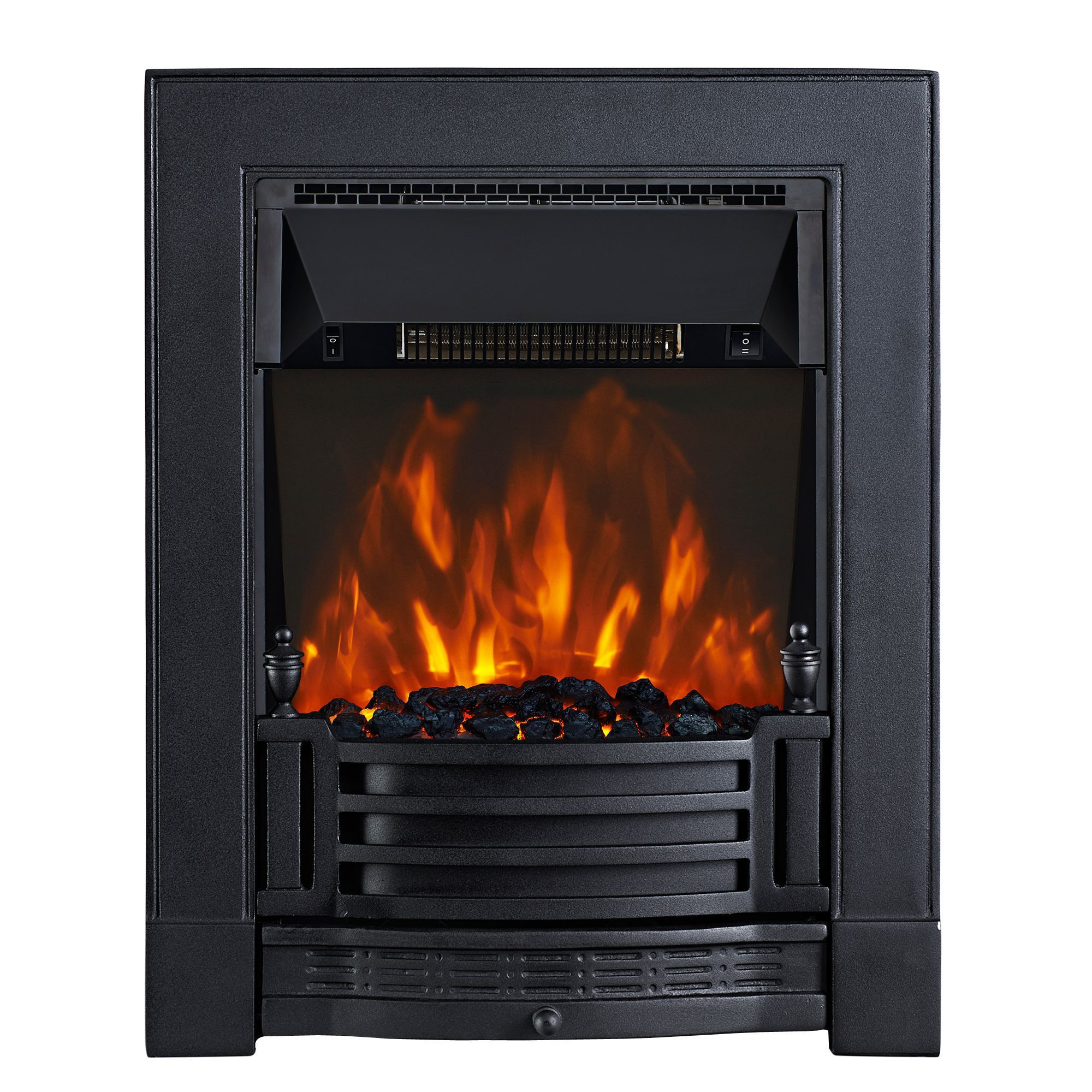 Focal Point Finsbury Black Led Remote Control Electric Fire