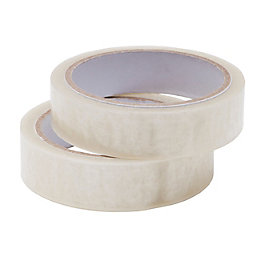 Clear Tape (L)50M (W)24mm, Pack of 2